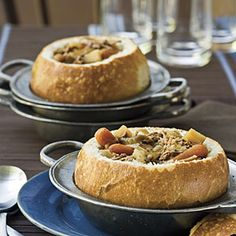 Toasted Bread Bowls Recipe
