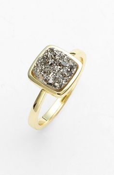 Gorgeous drusy ring.