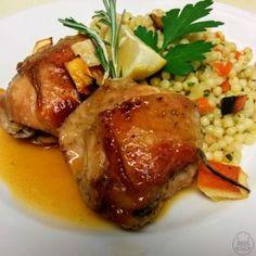 Kuře na citronech s tarhoňou - Kuře na citronech s tarhoňou - pečené kuřátko v lehce netradičním pojetí