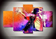 [Visit to Buy] 5 Panel Grammy Lifetime Achievement Award Michael Jackson Home Wall Decor Canvas Picture Art HD Print Painting On Canvas Artwork #Advertisement