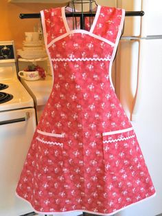 Vintage 1940s Style Full Apron in Cottage by TheFortiesRevisited