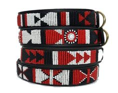 The Shield Beaded Kenyan Dog COLLAR