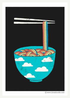 Rainbow Connection by Heng Swee Lim, via Behance