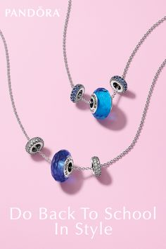 What better way to show of your school spirit than a necklace that says it all? Whether your school color is blue or green, red or yellow, PANDORA has the look for you. Shop PANDORA Jewelry for your back to school style!