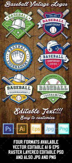 Baseball Logo Templates. Download here: http://graphicriver.net/item/baseball-logo-templates/15350028?ref=ksioks: