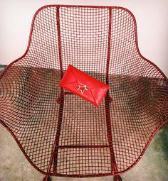 Bosco Star Vitello Red / bag star pochette /