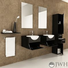 "42"" Mira Double Bathroom Vanity - Espresso - The white integrated vessel sink strikes a beautiful contrast against the dark colored wood exterior."