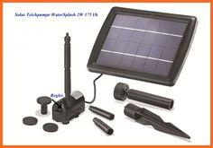 2W Solarpumpe Solar Pumpenset Teichpumpe Springbrunnenpumpe WaterSplash 101010