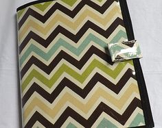 jw field service organizer browngreen chevron by bellocovers - Field Service Organizer
