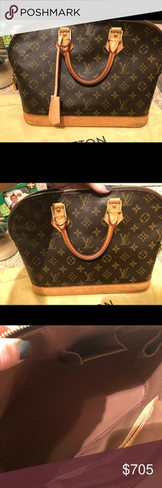 Louis Vuitton Alma Great condition Louis Vuitton Alma. Comes from pet and smoke free home. Also comes with dust cloth. 100% authentic Bags Mini Bags
