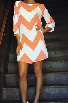 Wide Chevron Dress
