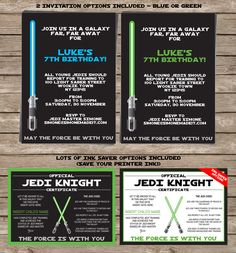 STAR WARS Invitation & Printable Birthday Party Collection