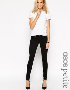 ASOS+PETITE+Whitby+Low+Rise+Skinny+Jeans+In+Clean+Black