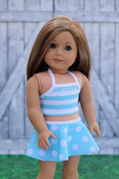 American Made Puppenkleider 2 pc-Bikini Schürzen von Closet4Chloe