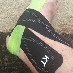 KT Tape -  I use it to support my achilles tendon/ ankles and around my foot to prevent rubbing/ blisters & support my feet.   A must use for races or long runs.