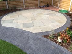 Specialist Paving Centre natural stone paving water features block paving etc etc. in a colour described as Charcoal (Like a dark grey/dark blue). Stunning paving blocks ideal for use as edging/borders. Block Paving Patio, Paving Stone Patio, Patio Edging, Patio Blocks, Garden Paving, Paving Stones, Stepping Stones, Patio Slabs, Circular Garden Design