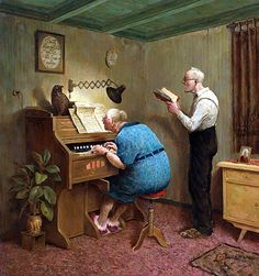 """""""Those Were The Days"""" - Marius van Dokkum, Dutch Artist and Illustrator Praise The Lords, Praise And Worship, Animation, Illustrations, Illustration Art, Photo Humour, Growing Old Together, Dutch Painters, Gif Animé"""