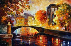 Hand Painted Impasto Abstract Knife Canvas Bridge Landscape Canvas Oil Painting Wall Art Picture Living Room Bedroom Home Decor – Linh's Corner Rain Painting, Palette Knife Painting, Oil Painting On Canvas, Painting Prints, Canvas Art, House Painting, Building Painting, Surreal Artwork, Art Pictures