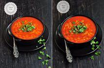 Domatesli Arpa Şehriye Çorbası
