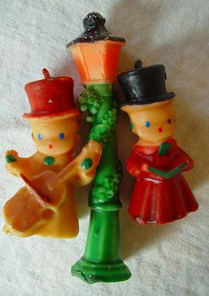 Gurley Carolers Lamp Post Candle