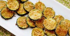 Zucchini Parmesan Crisps Recipe from Food Network. Summer's coming---I'm ready for zucchini! This looks so good and healthy, too. I'd love this with some homemade lasagna or even as an appetizer, with some savory spaghetti sauce. Vegetable Dishes, Vegetable Recipes, Vegetarian Recipes, Cooking Recipes, Healthy Recipes, Side Recipes, What's Cooking, Diabetic Recipes, Delicious Recipes