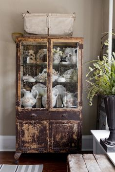 Joanna Madden Dining Room Armoire | Hutch | China Cabinet | Rikki Snyder Photography | Style Me Pretty Living | Cottage Home Tour | Vintage