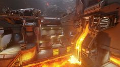 ArtStation - Molten / Tower remix, Kenny Magnusson Halo 5, Chen, Science Fiction, Environment, Tower, Concept, Game, Lighting, Interior