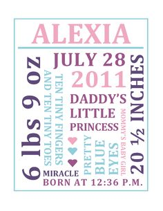 free word collage baby birth announcement - Free Baby Announcement Templates