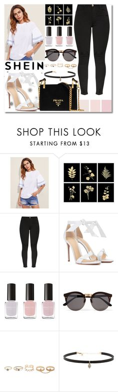 """""""Shein Contest"""" by banescu-diana ❤ liked on Polyvore featuring Alexandre Birman, Eleccio, Illesteva, LULUS, Carbon & Hyde and Prada"""