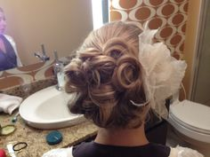 Jaime's wedding updo, Amy Johannsen at The Hair District, Maple Grove MN