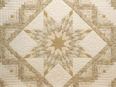 Lone Star Log Cabin Quilt -- exquisite made with care Amish Quilts from Lancaster (hs6108)