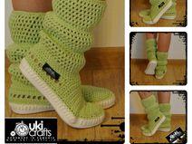 Stivali Crochet estate cotone 100% Pistachio