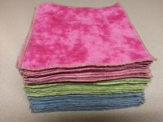 Custom Order: Flannel Family Cloth / Washable TP / Baby Wipes - 18 Double Ply. $18.00, via Etsy.