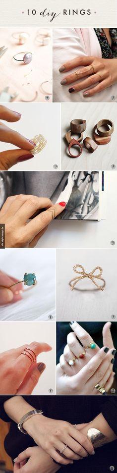 10 traumhafte Ringe zum selber machen!