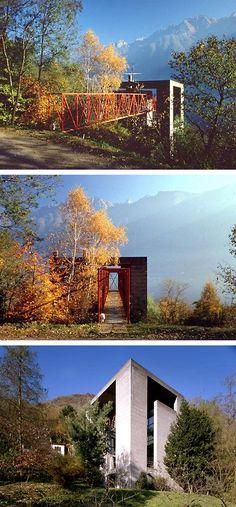 Riva San Vitale, Ticino, Switzerland - Bianci House, Mario Botta