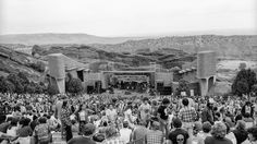 The Red Rocks Ampitheatre in Morrison, Colorado where the Jerry Garcia Band played in July 1982.
