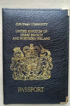 UK - Passport cover (Ebay 29p) #roleplay #travelling ted