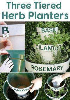 Three Tiered Herb Planters