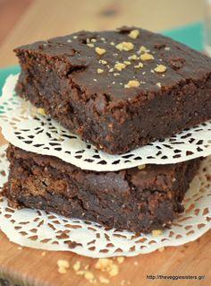Μπράουνις με κολοκύθα Brownies, Cake Decorating, Veggies, Pumpkin, Desserts, Recipes, Food, Drinks, Decorating Cakes