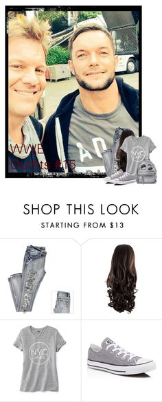 """WWE Outfits #15"" by annacrystal ❤ liked on Polyvore featuring Old Navy, Converse, Chiara Ferragni, WWE, outfits and finnbalor"