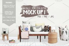 Kids Room Wall/Frame Mock Up 1 by Whimsicality on @creativemarket