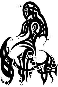 fishy Tribal Warrior, Tribal Tattoos, Doodles, Calligraphy, Art, Art Background, Lettering, Kunst, Performing Arts