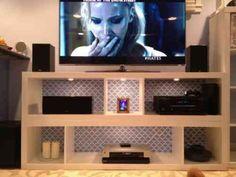 idée de meuble TV original par Ikea
