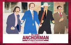 Anchorman 17 x 11 Movie Poster. $17.00, via Etsy.