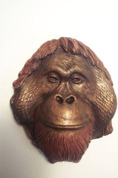 Orangutan Wall Hanging Sculpture by jasonshanamanart on Etsy, $15.00