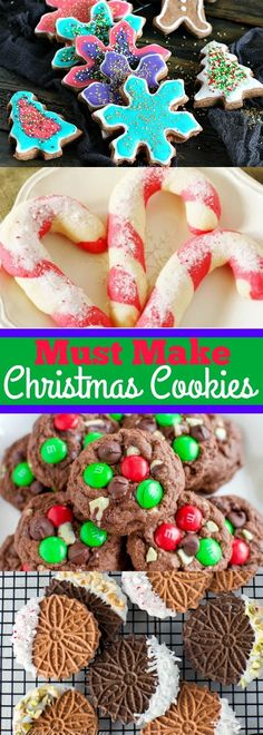 Must Make Christmas Cookies You will want to make every year! Holiday Cookies, Holiday Treats, Christmas Treats, Holiday Recipes, Christmas Recipes, Christmas Goodies, Christmas Desserts, Fun Desserts, Dessert Recipes