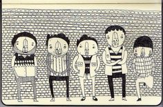 Character Illustrations by Paul Clay for alphawham | Flickr - Photo Sharing!