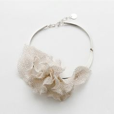 Silver Crochet Orchid by Juan Pacheco