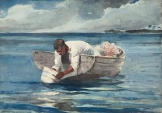 Winslow Homer. The Water Fan, 1898/99. The Art Institute of Chicago, gift of Dorothy A., John A., Jr., and Christopher Holabird in memory of William and Mary Holabird.