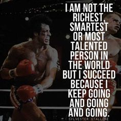 Most memorable quotes from Rocky Balboa, a movie based on film. Find important Rocky Balboa quotes from film series:Rocky Rocky II Rocky III Rocky IV Rocky V and Rocky Balboa Check InboundQuotes for Rocky Balboa Poster, Rocky Balboa Movie, Rocky Balboa Quotes, Rocky Quotes, Rocky Film, Motivational Pictures, Motivational Quotes For Success, Motivational Videos, Motivation Quotes